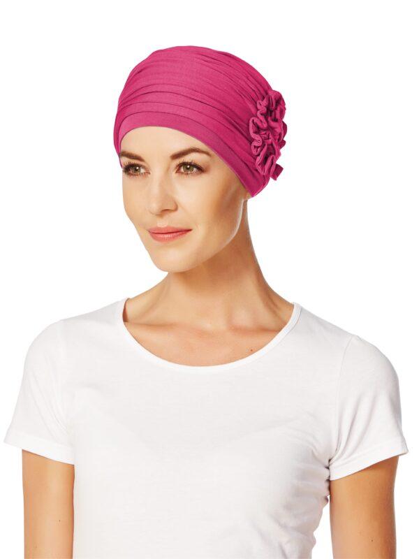 Turban,šatka na hlavu pre onkologických lotus cerise pacientov - taktrochainak.sk
