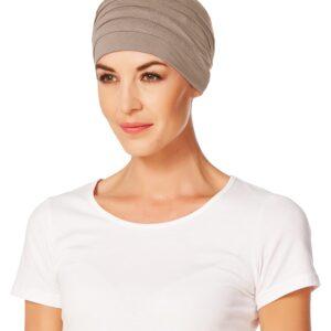 Šatky na hlavu pre onkologických pacientov -Turban Christine Headwear Yoga, Brown - taktrochainak.sk