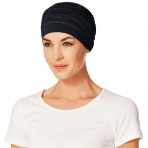 Turban na hlavu po chemoterapii Yoga tmavomodry - taktrochainak.sk