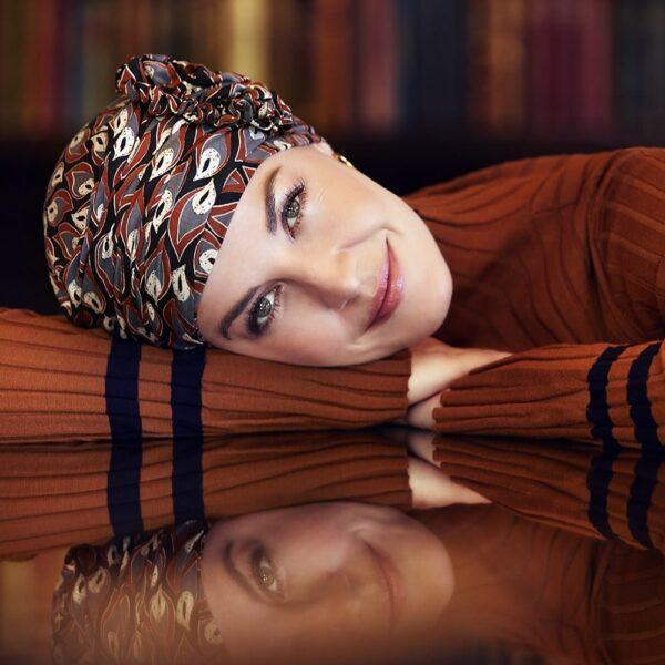 Šatka turban na hlavu po chemoterapii - lotus