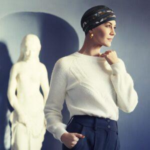 Šatka turban na hlavu po chemoterapii - shanti