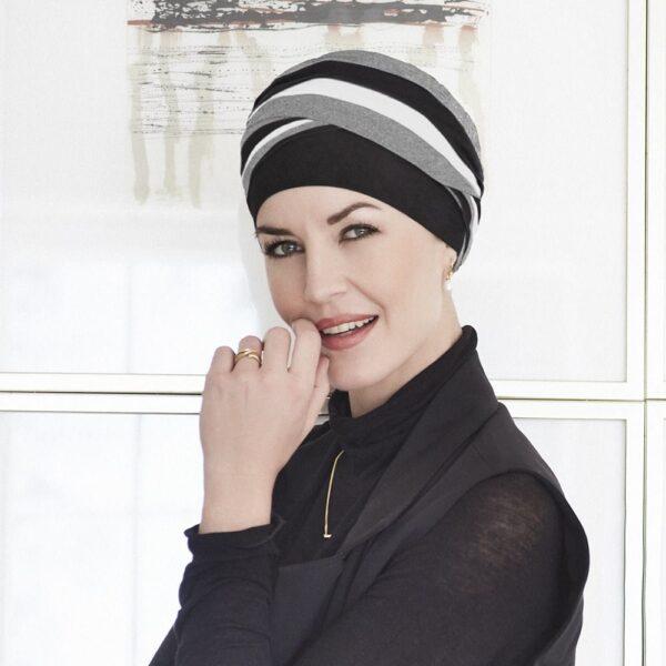 Šatka turban na hlavu po chemoterapii shanti