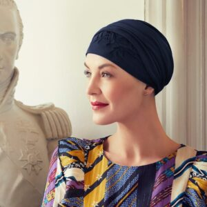 Šatka turban na hlavu po chemoterapii čierny Shakti