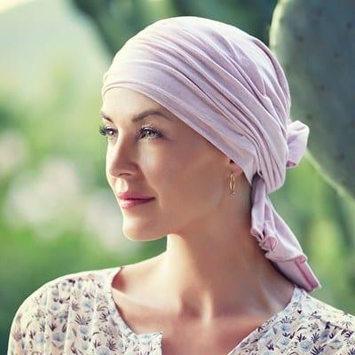 Turban, čiapka na hlavu po chemoterapii