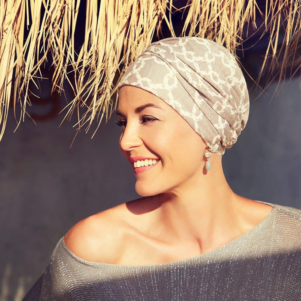 Letný dámsky turban pre ženy po chemoterapii - taktrochainak.sk