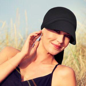 Šatka, turban na hlavu po chemoterapii , Bianca black- taktrochainak.sk