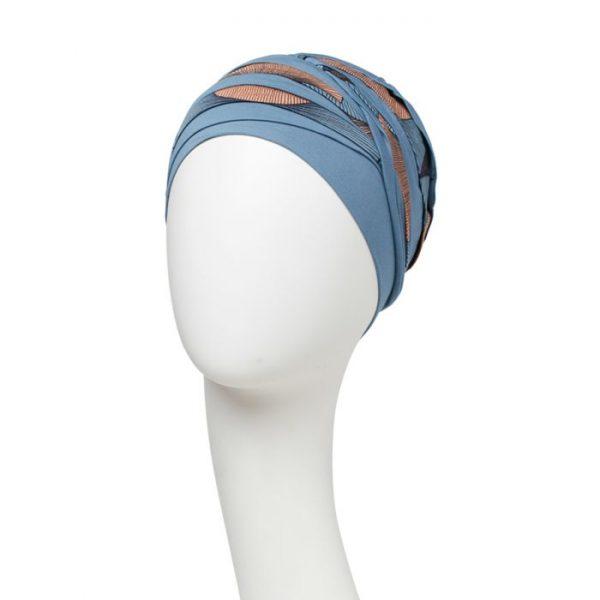 Turban, čiapka po chemoterapii, model shanti illusion predná časť- taktrochainak.sk