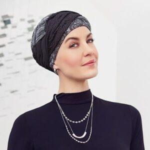 Štýlový pohodlnný turban, šatka na hlavu po chemoterapii pre onkologických pacientov - taktrochainak.sk