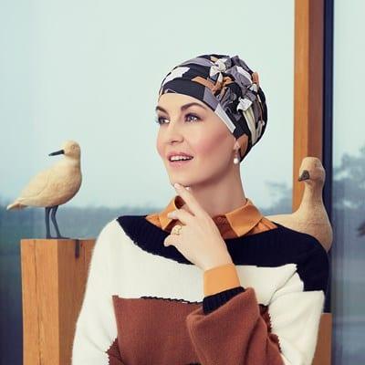 Turban na hlavu po chemoterapii Lotus shapes - taktrochainak.sk