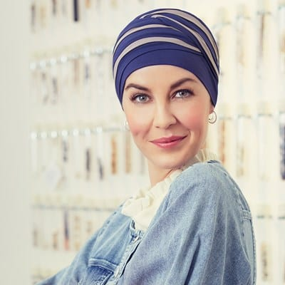 Turban na hlavu po chemoterapii Shanti Night blue - taktrochainak.sk