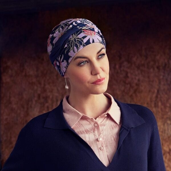 Turban na hlavu po chemoterapii Shakti Flowering - taktrochainak.sk