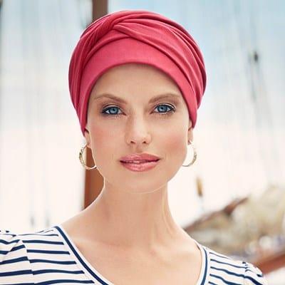 Šatka, turban na hlavu po chemoterapii , Mila farebná - taktrochainak.sk