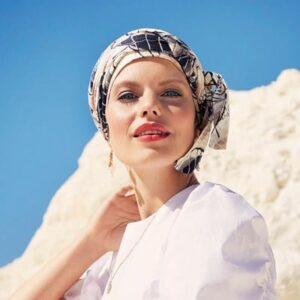 Šatka, turban, čiapka po chemoterapii na leto1- taktrochainak.sk