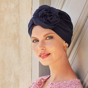 Šatka, turban na hlavu po chemoterapii , Zuri Black Iris- taktrochainak.sk