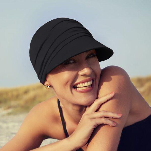 Klobúk, čiapka so šiltom po chemoterapiii na leto, čBella Black- taktrochainak.sk